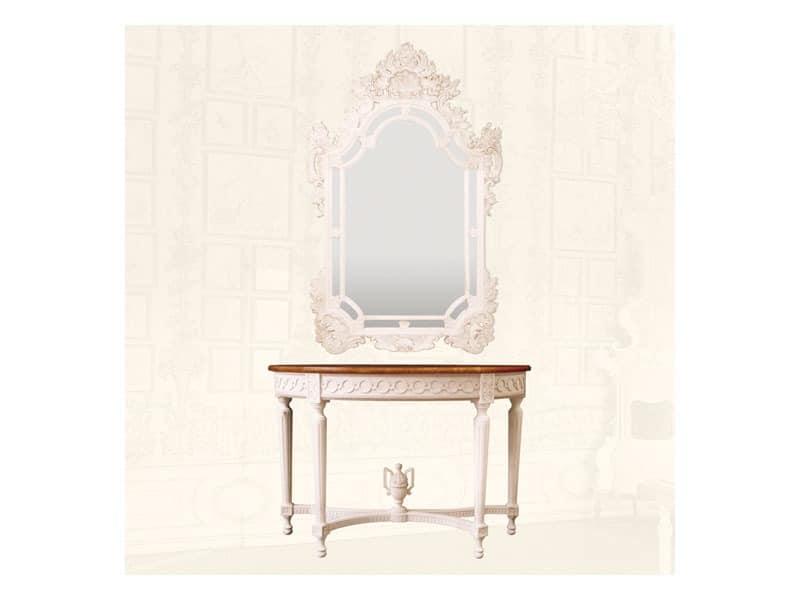 Wall Mirror art. 163, Spiegel aus der Hand geschnitzten Holz, für Luxus-Wohnzimmer