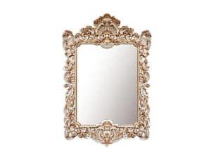 Wall Mirror art. 168, Rechteckigen Spiegel mit Rahmen, Barock