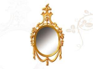 Wall Mirror art. 170, Spiegel aus handgeschnitzte Holz, im Stil Louis XV