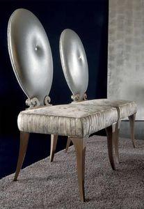 283S, Klassischer Stuhl mit ovaler Rückenlehne