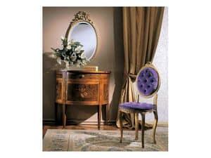 3290 CHAIR, Gepolsterte Holzstuhl, klassischen Luxus-Stil