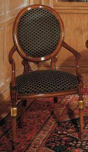 Art. 1113, Klassischer Stuhl für Wohnräume, ovale Rückenlehne
