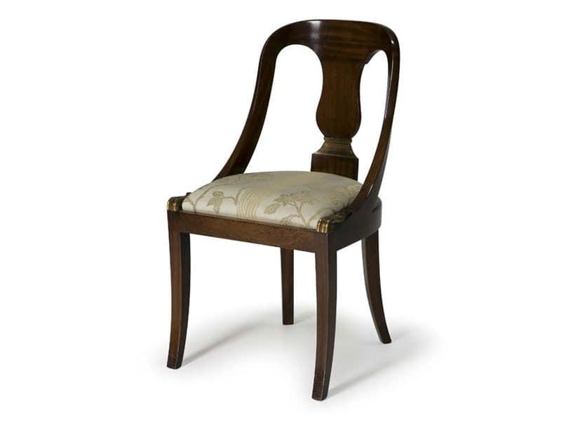 Art.132 chair, Klassischen Stil Stuhl aus Holz, für Restaurants und Hotels