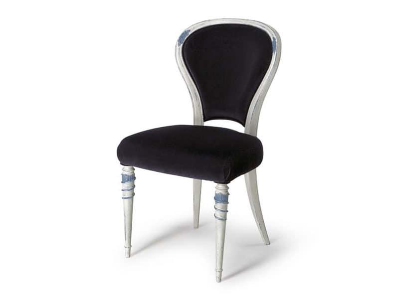 Art.188 chair, Lehrstuhl für Speiseräume mit gepolsterten Rückenlehne