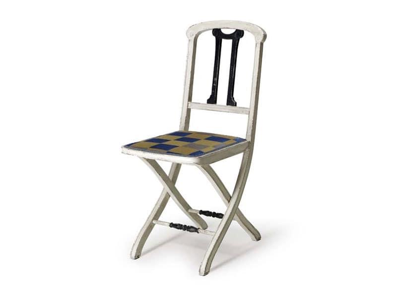 Art.192 chair, Klappstuhl aus Holz, klassischen Stil