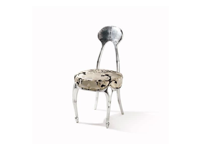 Art.242 chair, Klassischer Stuhl mit gepolstertem Sitz