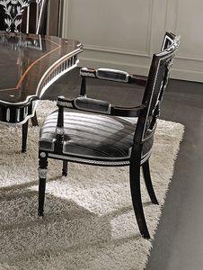 ART. 2739, Stuhl im klassischen Stil mit Armlehnen
