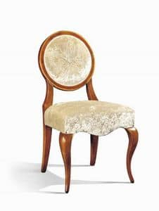 Art. 510s, Klassischer Stuhl mit ovaler Rückenlehne, für Restaurants