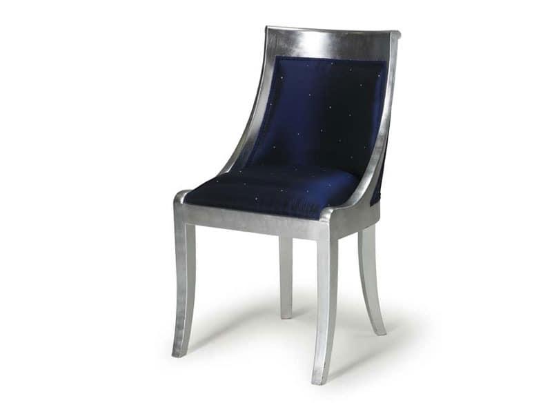 Art.534 chair, Klassischer Stuhl für Esszimmer