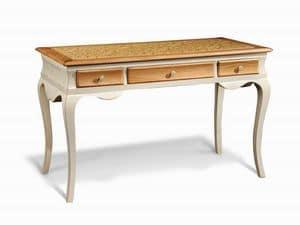 Art. 713, Hölzerner Schreibtisch, mit gewundenen Beinen, für Büro