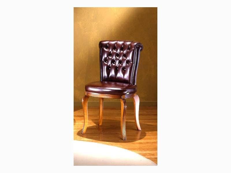 Bonn Capitonnè, Stuhl mit Tufting-Rückenlehne, für die Gaststätten
