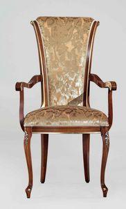 BS346A - Stuhl, Klassischer Stuhl mit Armlehnen