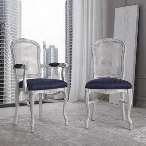 BS394S - Stuhl, Stuhl mit Wiener Strohrückenlehne