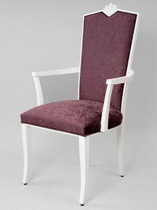 BS458A - Stuhl, Klassischer Stuhl mit Armlehnen