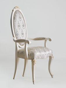 BS512A - Stuhl, Klassischer Stuhl mit Armlehnen