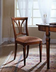 D 601, Stuhl mit Sitz aus Stoff in Italien hergestellt