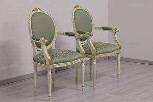 Dama Stoff, Klassischer Stuhl mit Wolle gepolstert