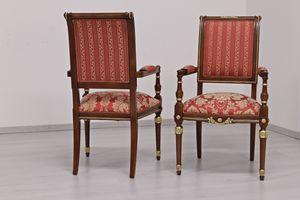 Ercole, Stuhl im kaiserlichen Stil Louis XVI