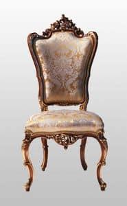 F867, Geschnitzt Sessel mit gepolstertem Sitz und Rückenlehne