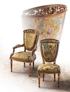 F104/A, Stuhl im klassischen Luxus-Stil für Esszimmer
