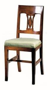 Manciano ME.0966.T, Nussbaum Stuhl mit gepolsterten Sitz, klassischer Stil