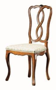 Modigliani RA.0987, Nussbaum Stuhl, '800, für die klassische Speisesäle gestylt