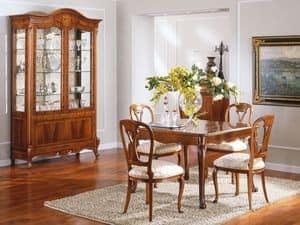 OLIMPIA B / Stuhl, Holzstuhl, gepolsterter Sitz, für Luxus-Wohnzimmer