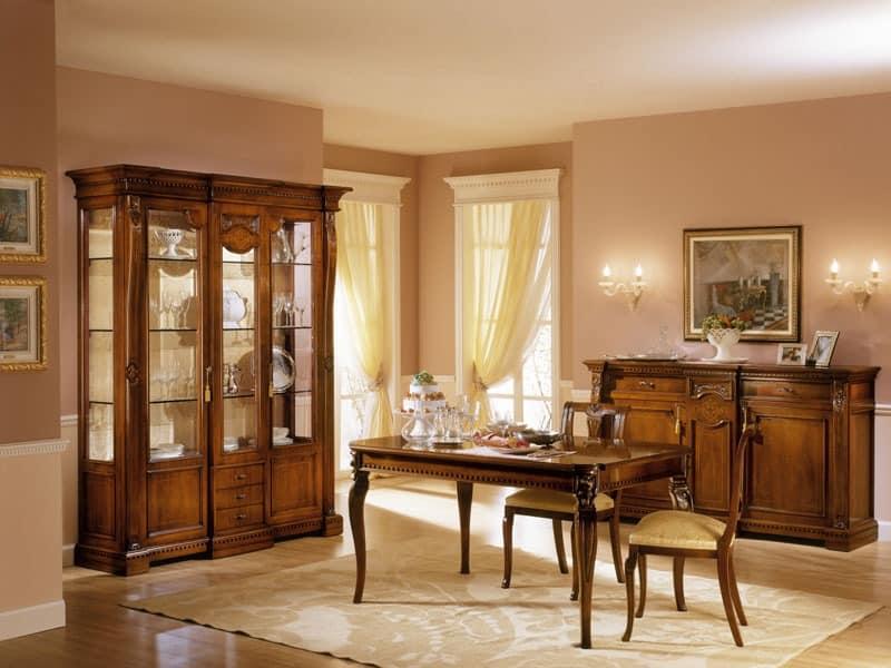 REGINA NOCE / Stuhl, Stuhl mit gepolstertem Sitz für Esszimmer