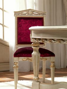 San Pietroburgo Art. SED02/VP/L51, Geschnitzter Stuhl für klassisches Esszimmer