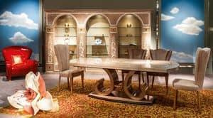 SE50 Stuhl, Klassischer Luxus Polsterstuhl