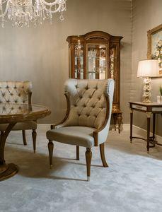 Stuhl 1438, Gepolsterter Stuhl für Esstisch