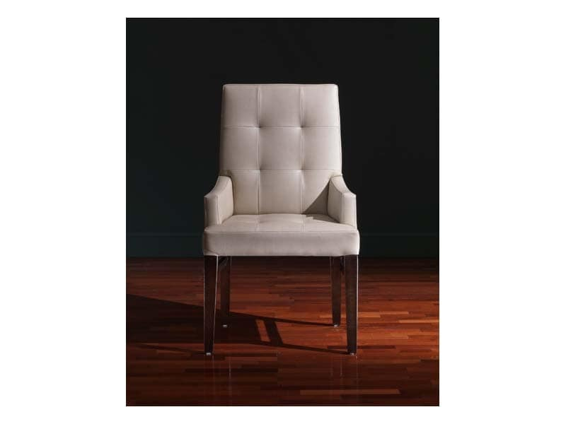 Star Head of the table, Stuhl mit Armlehnen, klassischen Stil, in Leder