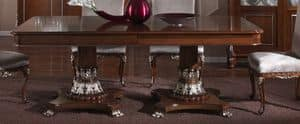 3625 TABLE, Rechtecktisch mit Intarsien top, für Esszimmer