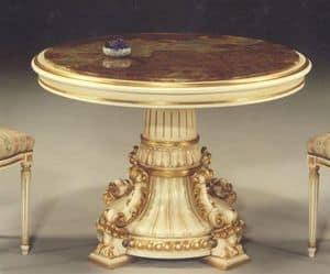 5030 TABELLE, Klassischer Tisch mit runder Platte geeignet für die Gaststätten