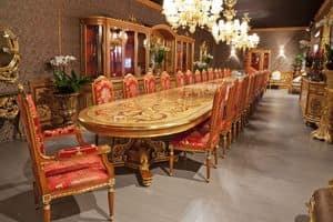 504/B, Sehr großer Tisch für Restaurants und Hotels, klassischen Stil