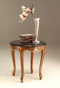 6524 kleiner tisch, Klassischer Couchtisch mit Marmorplatte
