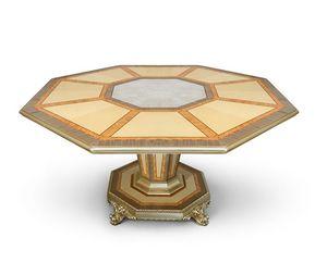 AGNES / Tiche, Luxuriöser Tisch mit achteckiger Platte