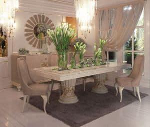 Art. 100, Rechteckiger Tisch klassischen Luxus Esszimmer