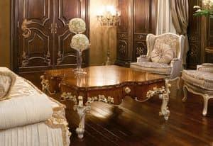 Art. 1054, Luxus Couchtisch, oben aus Olivenholz, klassischen Stil