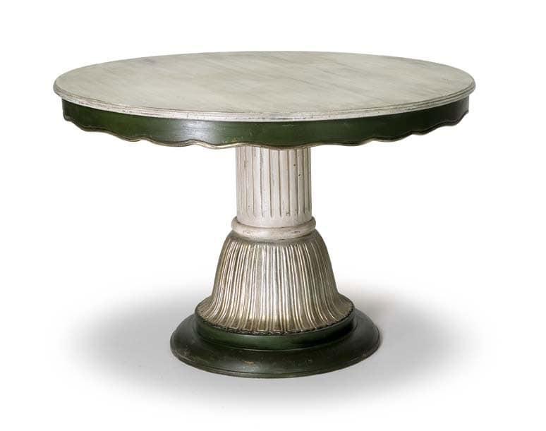 Art.140 dining table, Klassischen Stil Tisch mit Mittelsäule
