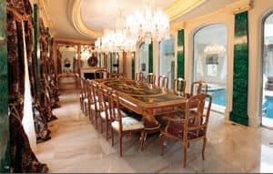Art. 165, Luxuriöse Esstisch mit Intarsien aus Rosenholz