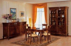Art. 903 table '800 Francese, Klassische Tabellen bearbeitet Holz, mit Erweiterungen