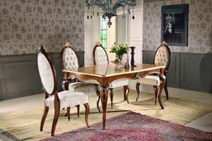 Art. 903, Rechteckiger Tisch, mit Blumenschmuck, für Esszimmer