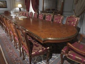 Art. 9090 tavolo, Tabelle in Bruyereholz, eingelegter Spitze, klassischen Luxus-Stil, für die Gaststätten