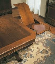 Art. 962 table Carlo X, Klassische Tisch, ausziehbar, für Antikstil Einrichtung