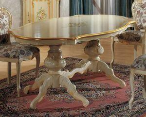 Brianza geformter Tisch, Klassischer Tisch mit dekorativer Malerei