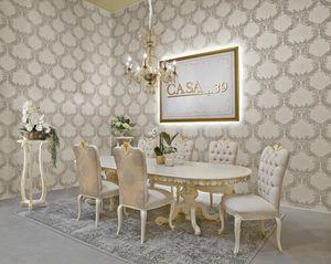 Diamante Art. 2622, Tisch im klassischen Stil, ovale Platte