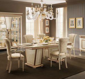 Fantasia rechteckiger Tisch, Eleganter Esstisch, ausziehbar