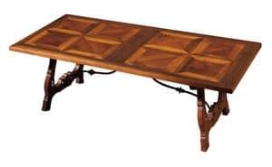 Fiesole ME.0891.2.F, Nussbaum-Tisch mit leierförmigen Beinen, zum Wohnzimmer