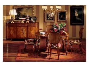 Hepplewhite table 742, Luxury klassischen Tisch aus Holz für Esszimmer